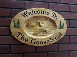 Wooden Signs With Goose / Geese
